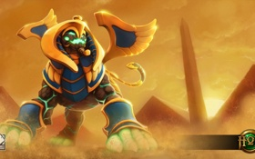 Обои War Sphinx, песок, Draconis, пустыня, Heroes of Newerth