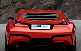 Обои красный, Авто, CONCEPT CAR, BMW M1 HOMAGE