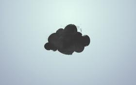 Обои минимализм, гранж, Облако
