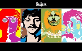 Обои группа, Beatles, музыканты