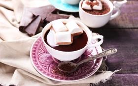 Обои зефир, cocoa, marshmallow, какао, шоколад, hot, chocolate