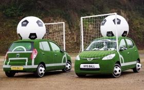 Картинка мяч, ворота, Hyundai, хёндай, FIFA World Cup, фифа.малолитражка, промо кар