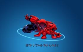 Картинка город, человек-паук, супермэн, Spiderman
