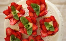 Картинка клубника, тарталетки, Strawberry Tarts