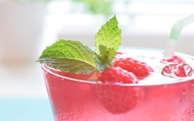 Картинка Color, Raspberry, Drink, Mint, Food, Cocktail, Cranberry