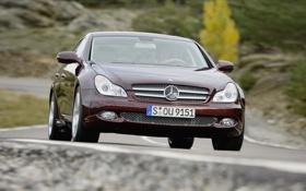 Обои дорога, Mercedes, дороги, CLS Class, фото, авто обои