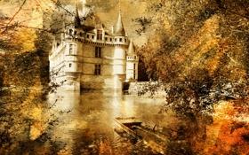 Картинка вода, старина, замок, сказка