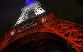 Обои Paris, Eiffel Tower, Bleu Blanc Rouge