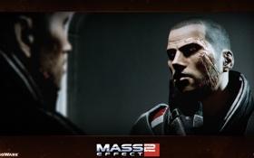 Обои Капитан, Шепард, mass, effect 2