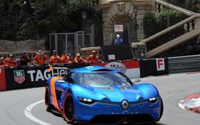 Обои трасса, Concept, Renault, ренаулт, A110-50, Alpine, концепт-кар