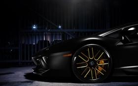 Картинка Lamborghini, Ламборджини, чёрная, диск, black, Ламборгини, LP700-4