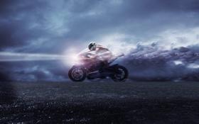 Обои speed, скорость, свет, мотоцикл