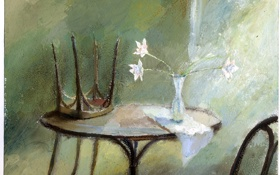 Обои цветы, настроения, живопись