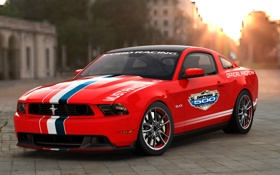 Обои Ford, тротуар, mustang, авто, форд
