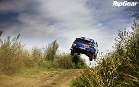Обои дорога, небо, Volkswagen, джип, внедорожник, Top Gear, полёт