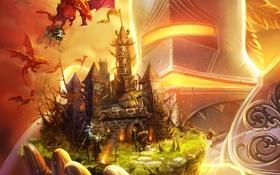 Обои Majesty 2, Драконы, Monster Kingdom, Корова