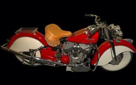 Обои ретро, байк, мотоцикл, бахрома