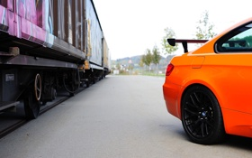 Обои Авто, BMW, Машина, БМВ, Оранжевый, Вагон, GTS