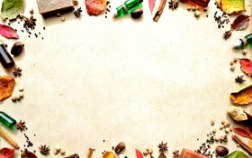 Картинка листья, пузырьки, ягоды, корица, бадьян