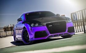 Картинка audi, purple, chrome