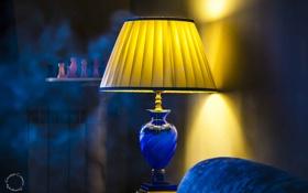 Картинка шахматы, настольная лампа, свет, комната