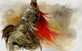 Обои доспехи, воин, шлем, adrian smith