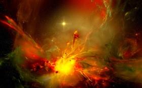 Обои взрыв, галактика, solstar