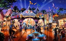 Обои цирк, люди, клоун
