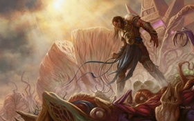 Картинка poder, dead, edificicion, armature, guerrero, Eldrazi, enemies
