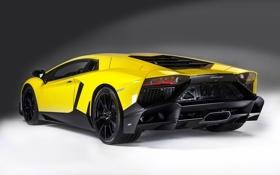 Обои Lamborghini, задок, LP700-4, Aventador, авентадор, мощный, 50 Anniversario Edition