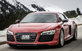 Картинка машина, Audi, скорость, Prototype, передок, e-Tron