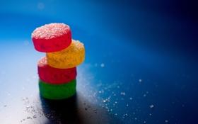 Обои красный, зеленый, таблетки, цветное, мармелад