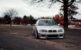 Картинка бмв, BMW, E46, stance