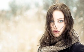 Картинка Winter, Snow, Portrait, Outdoor, Ana-Carolina, Ruit