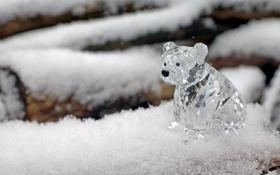 Обои зима, праздник, новый год, медведь, HD wallpapers