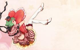 Картинка ленты, фон, сердце, костюм, девочка, подушка, шляпка