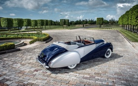 Обои Drophead Coupe, Silver Dawn, Rolls-Royce, 1950, роллс-ройс