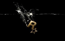 Картинка рокстар, логотип, splash series, Rockstar Games, underwater gold