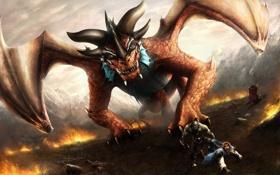 Обои Day of the Dragonqueen, люди, орки