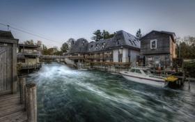 Картинка поток, Michigan, дома, Lake Michigan in Leland