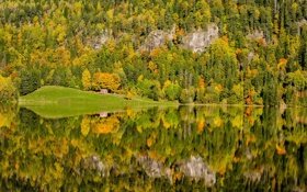 Картинка Autumn, reflection, Norway
