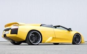 Обои желтый, Roadster, Lamborghini, родстер, Hamann, Murcielago, ламборгини