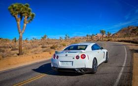 Обои GT-R, Дорога, Белый, Ниссан, Nissan, День, Машина