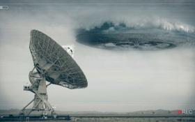 Обои тарелка, радар, UFO