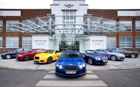 Обои фон, здание, Bentley, Continental, Континенталь, Бентли, передок