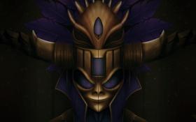 Обои маска, арт, Diablo III, Witch Doctor, Reaper of Souls