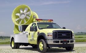 Обои жёлтый, ford, форд, пожарная, мигалки, пожарная машина, спасательная