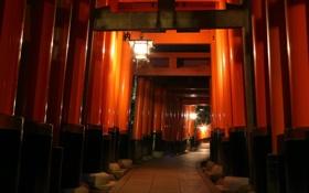Обои город, улица, Киото