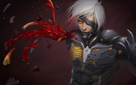 Обои blood, Raiden, Metal Gear Rising: Revengeance, Jack the Ripper, Platinum Games, Kojima Productions, arm