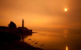 Картинка море, пейзаж, маяк